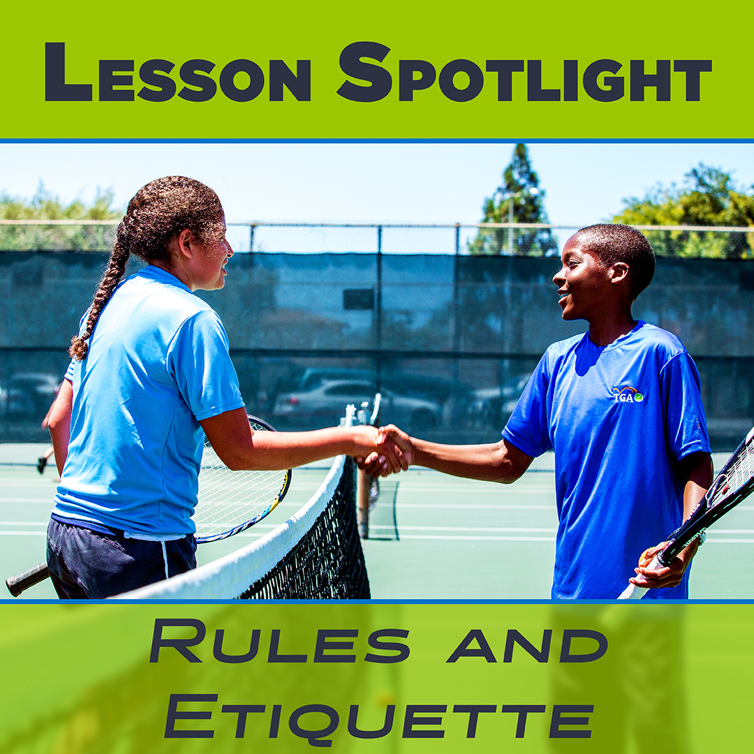 Tennis Rules and Etiquette Newsletter Graphic