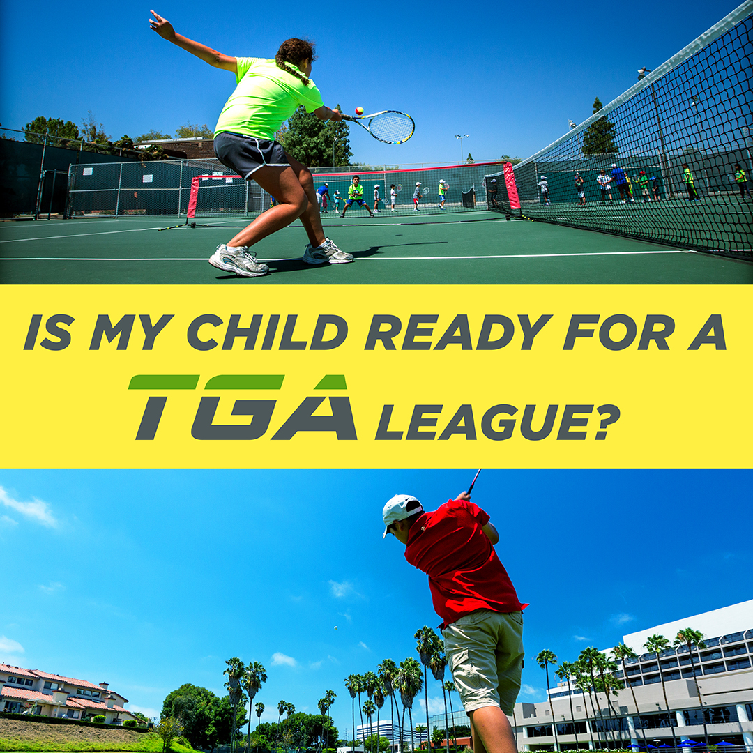 2019 Golf and Tennis Summer League Promo Newsletter Graphic