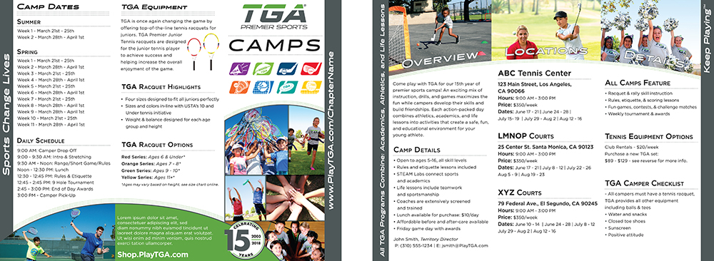 Team sports camp brochure template tga discover how fun and exciting volleyball can be with tga saigontimesfo