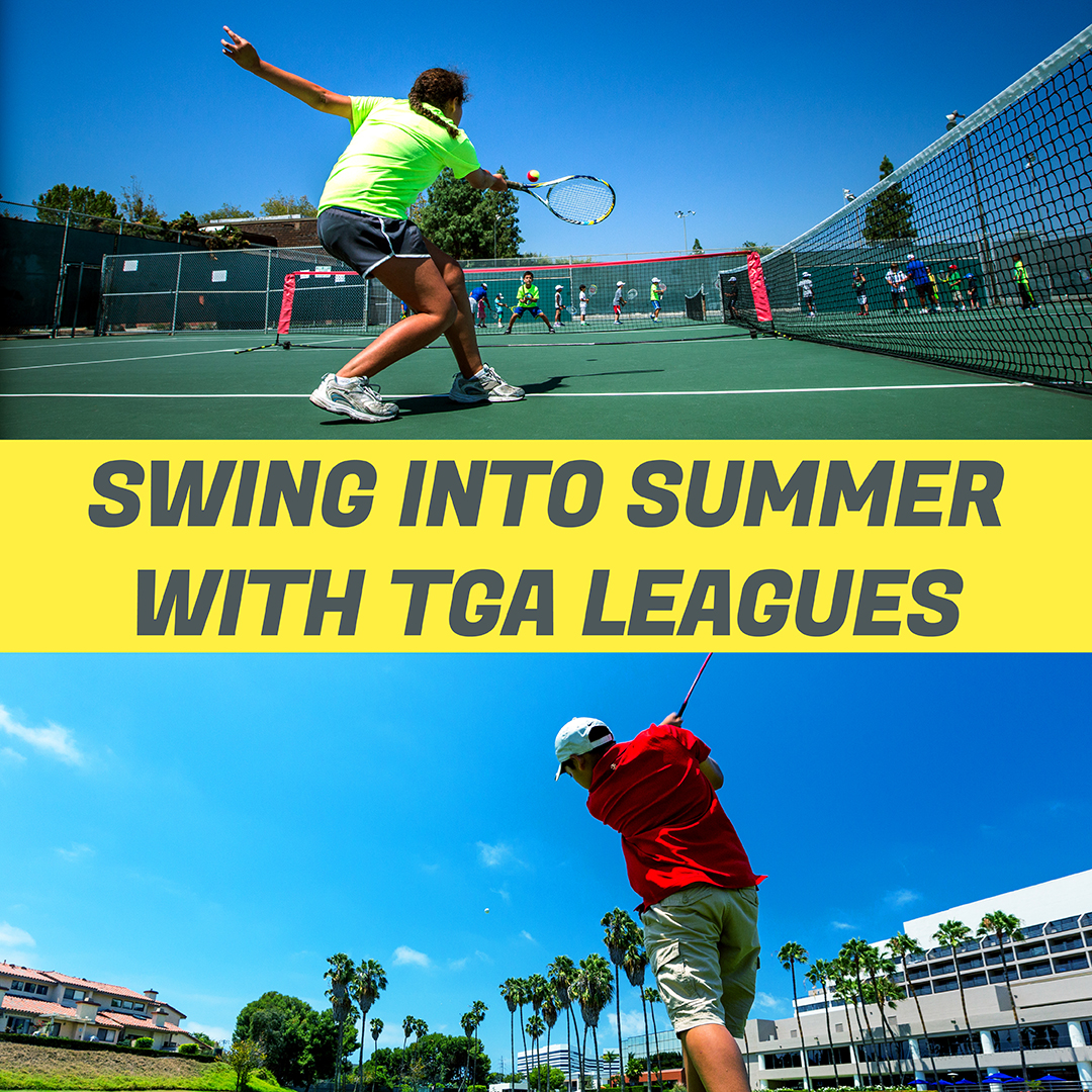 2019 Golf Tennis Summer League Promo Newsletter Graphic